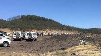 Lokasi pesawat Ethiopian Airlines jatuh