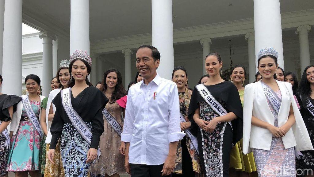 Bertemu Jokowi, Finalis Puteri Indonesia Diminta Tak Golput