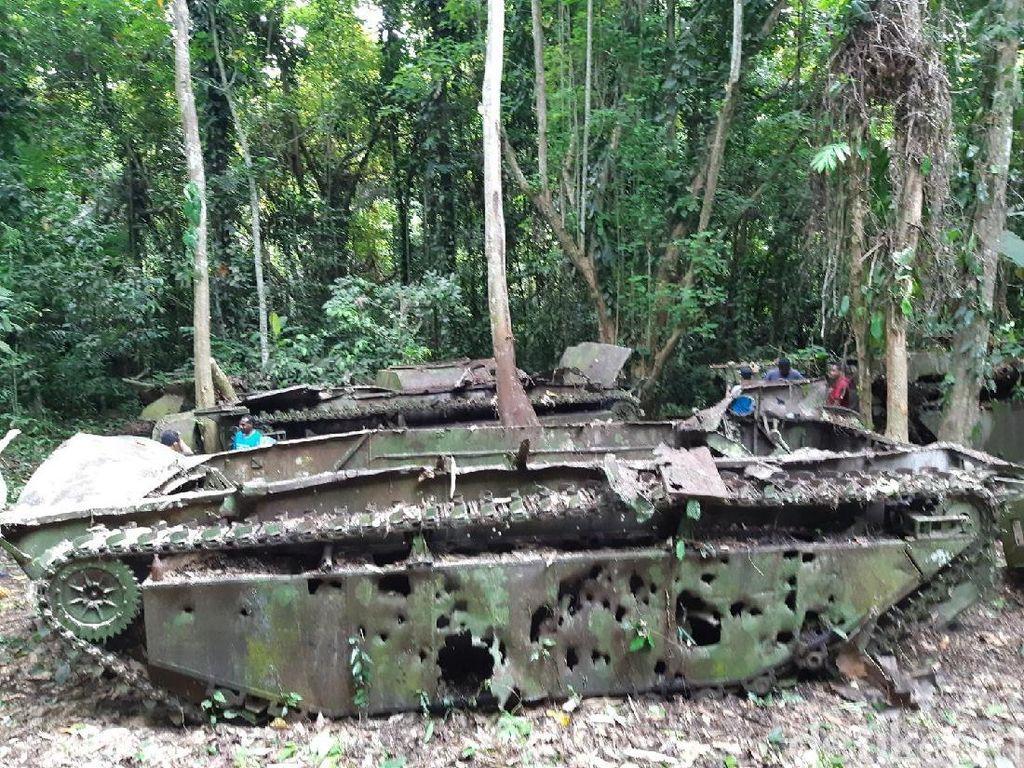 Saksi Bisu Perang Dunia II di Tengah Hutan Papua