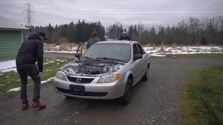 Modifikasi Mobil Pakai Mesin Potong Rumput. Foto: Istimewa