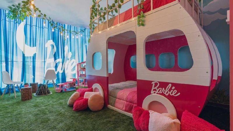 Dalam rangka merayakan ulang tahun Barbie yang ke 60, Perusahaan Mattel bekerja sama dengan Hilton Mexico City Santa Fe meluncurkan glamping bertemakan Barbie di Meksiko. (dok Hilton Hotels & Resorts)
