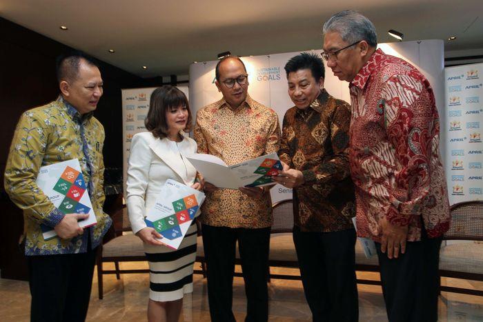 Kamar Dagang dan Industri (Kadin) Indonesia mendorong peran aktif swasta untuk menyukseskan tercapainya Tujuan Pembangunan Berkelanjutan (Sustainable Development Goals/SDGs) di dalam negeri. Pool/Kadin.