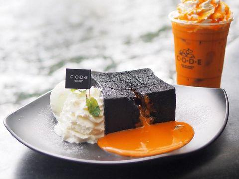Lumer Creamy, Shibuya Toast dengan Lelehan Saus Thai Tea