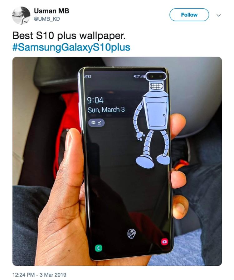 Marak Wallpaper Kreatif Sembunyikan Lubang Kamera Galaxy S10