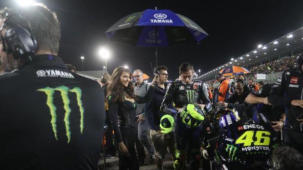 Valentino Rossi terlihat tenang jelang balapan MotoGP Qatar 2019.