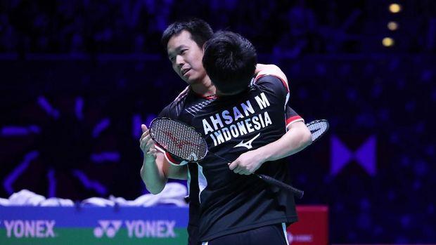 Mohammad Ahsan/Hendra Setiawan bakal menghadapi Hiroyuki Endo/Yuta Watanabe di babak final.