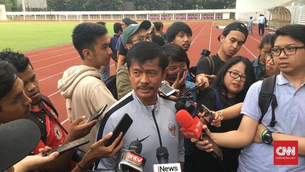 Pelatih Timnas Indonesia U-23 Indra Sjafri.