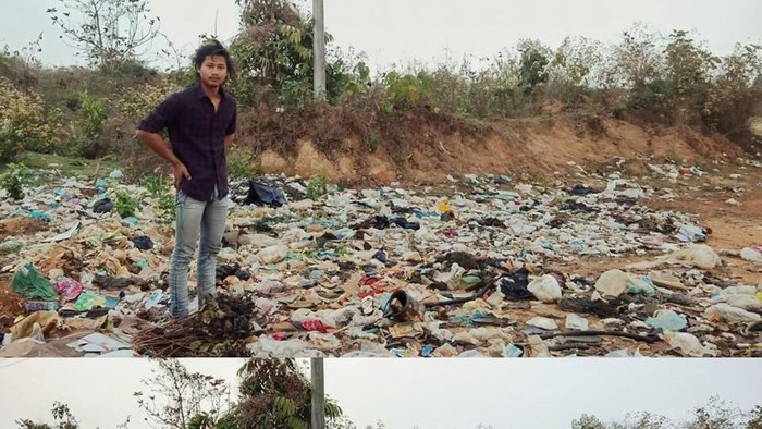 Trashtag challenge. Foto: Facebook/Ye Khaing Oo