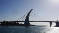 Traveler diajak berlayar melewati Dapeng Bay Bridge (Kurnia/detikcom)
