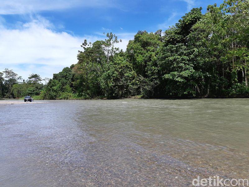 Tambrauw punya banyak destinasi menarik, salah satunya Kali Jodoh. Ini sebuah sungai panjang yang berada di Distrik Sausapor. (Bonauli/detikcom)