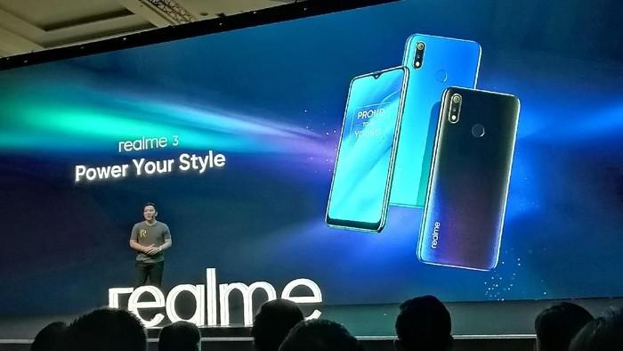 Acara peluncuran Realme 3 di Indonesia. (Foto: Muhamad Imron Rosyadi/detikINET)