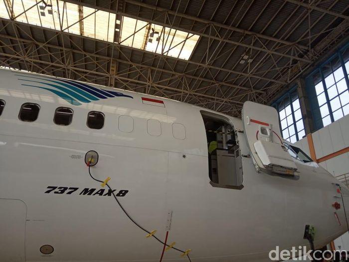 Foto: B737-Max 8 milik Garuda Indonesia/Herdi Alif Al Hikam