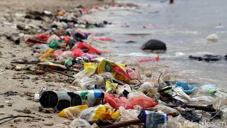 Pemakaian sampah plastik yang sekali pakai dapat mengancam kehidupan ekosistem laut di Pulau Tidung. Petugas Sudin DLH pun berjibaku membersihkan sampah di sana.