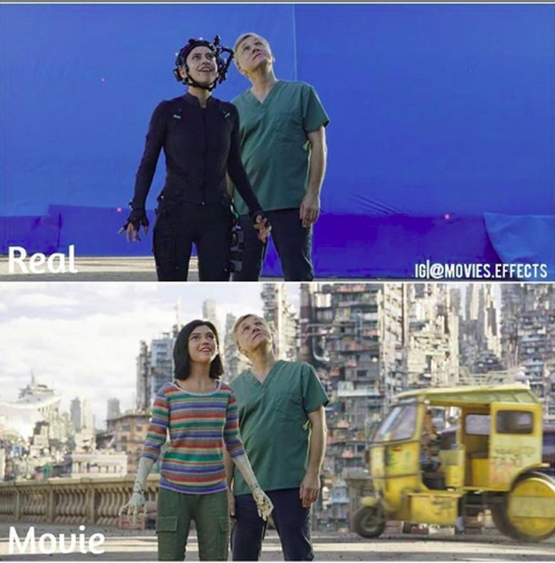 Salah satu teknologi canggih yang digunakan dalam produksi sebuah film layar lebar adalah menggunakan teknologi CGI atau Computer Generated Imagery. Adegan di filmAlita: Battle Angel.(Foto: Instagram/movies.effects)