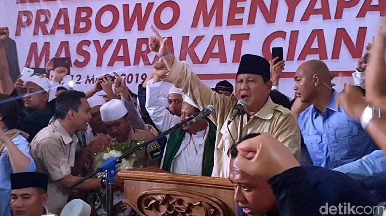 Di Cianjur, Prabowo Kembali Katakan Siap Kembalikan Tanah