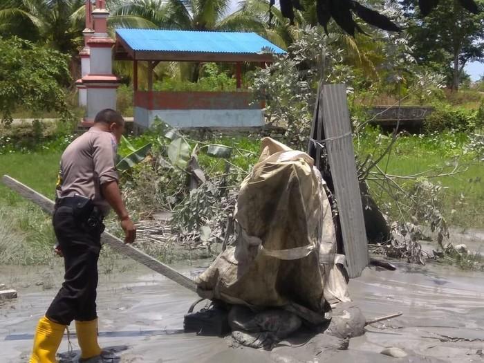 Lokasi semburan gas dan lumpur di Maluku Tengah. (Foto: dok. Polda Maluku)