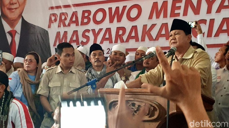 Kawal Suara di TPS, Prabowo Minta Pendukungnya Jadi Saksi Gratisan