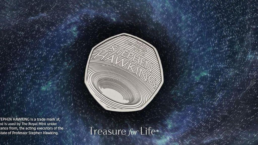 Begini Wujud Koin Stephen Hawking yang Dijual Jutaan Rupiah