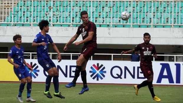PSM Makassar saat menghadapi Lao Toyota FC. (