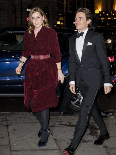 LONDON, ENGLAND - MARCH 12: Princess Beatrice and Edoardo Mapelli Mozzi attend the Portrait Gala at National Portrait Gallery on March 12, 2019 in London, England. (Photo by Tristan Fewings/Getty Images)