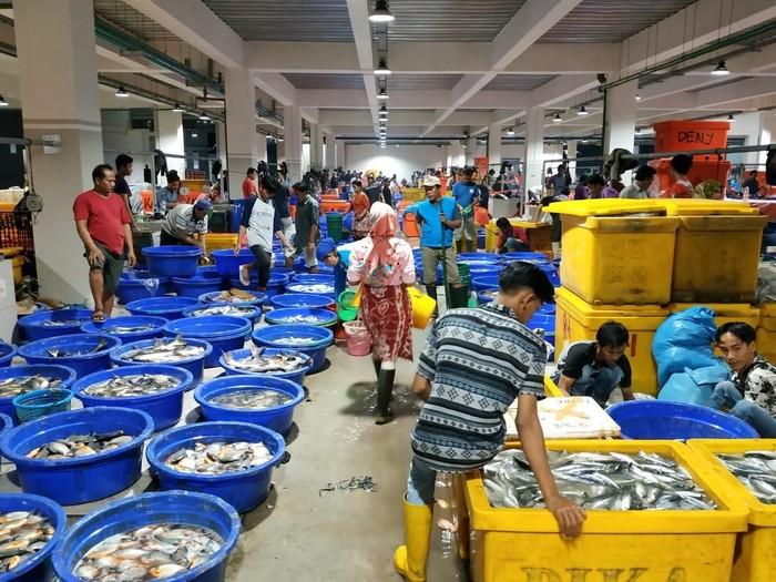 PIM mulai dibangun pada Juli 2016 dan sejak awal 2019 sudah banyak pedagang ikan yang menempati kios-kios ini. Total ada lebih dari 800 kios yang ditempati pedagang untuk menjajakan aneka seafood segar tangkapan nelayan. Foto: Perum Perindo