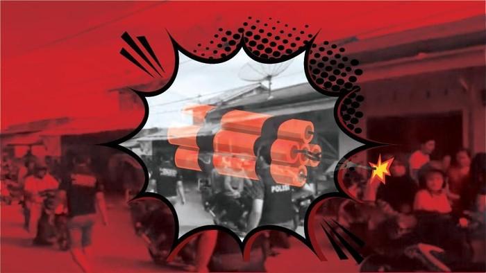Ilustrasi fokus (bukan buat insert) Bom Meledak di Sibolga (Zaki Alfarabi/detikcom)