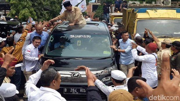Prabowo saat di Cianjur