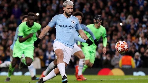 Man City catat rekor kemenangan agregat terbesar bagi tim Inggris di Liga Champions.