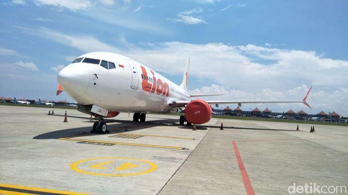 Foto: Pesawat Lion Air Boeing 737 Max 8 dikandangkan di Ngurah Rai (dok. Otban Wil 4 Bali Nusra)