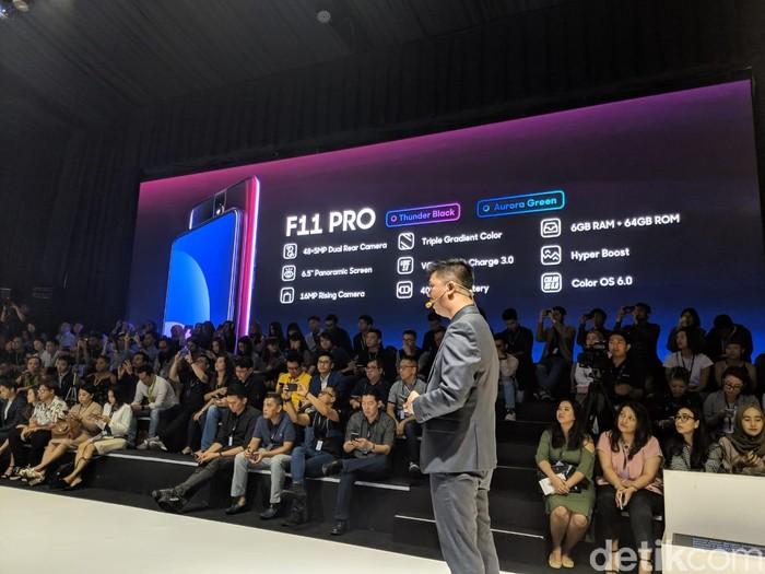 Suasana peluncuran Oppo F11 Pro. Foto: Adi Fida Rahman/detikinet