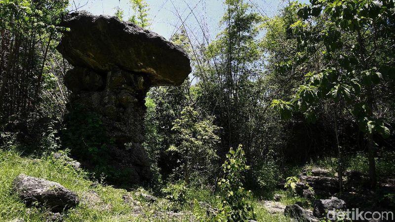 Suasana rindang menyelimuti Gua Cermin. Letaknya 2,5 km dari Labuan Bajo (Dikhy Sasra/detikcom)