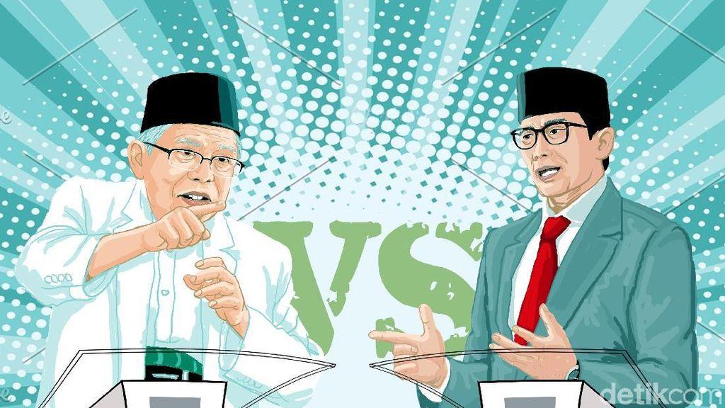 Maruf Amin Vs Sandiaga Uno, Siapa yang Paling Kuasai Isu Kesehatan?