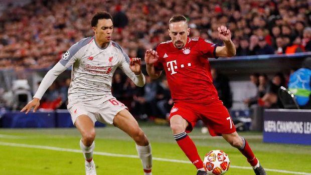 Bayern Munchen dan Liverpool sama-sama kesulitan mencari peluang di babak pertama.