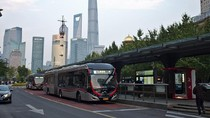 Unik! Warga Shanghai Rayakan Ulang Tahun Jalur Bus dengan Bawa Kue
