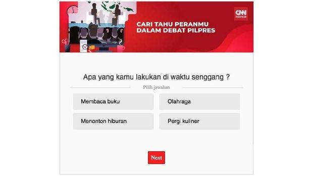 Cari kuis kepribadian CNN indonesia di setiap artikel di Gaya Hidup dan Hiburan