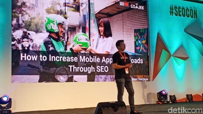 SEO Manager Go-Jek Indonesia Irvan Sanjaya. (Foto: Virgina Maulita Putri/detikINET)