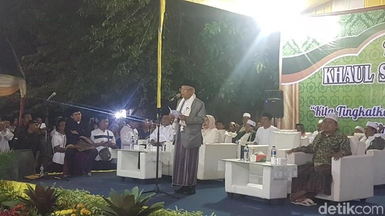 Maruf Amin Bicara Kepahlawanan di Haul Sultan Ageng Tirtayasa