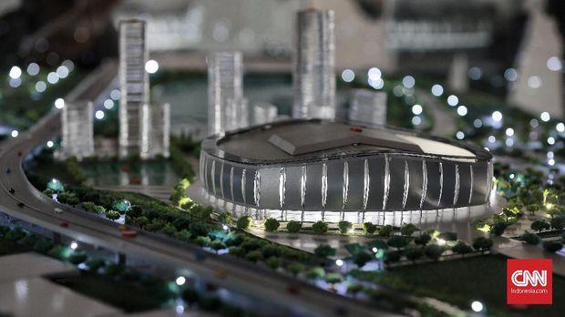 Maket Stadion BMW yang akan dibangun. (