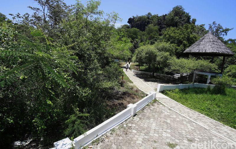 Gua Cermin ada di Kampung Wae Kesambi, Kecamatan Komodo, Manggarai Barat. Inilah jalan masuknya (Dikhy Sasra/detikcom)