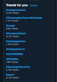 #instagramdown dan #facebookdown, Pengguna Curhat di Twitter