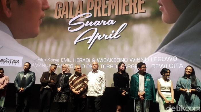 Pemutaran Gala premier Suara April (Foto: Dwi Andayani/detikcom)