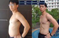 Viral, Perubahan Pria yang Dulu Berperut Buncit Kini Sixpack dalam 30 Hari