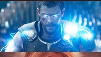 Duet Thor dan Captain Marvel disebut bakal membuat Thanos lari terbirit-birit.Dok. Twitter