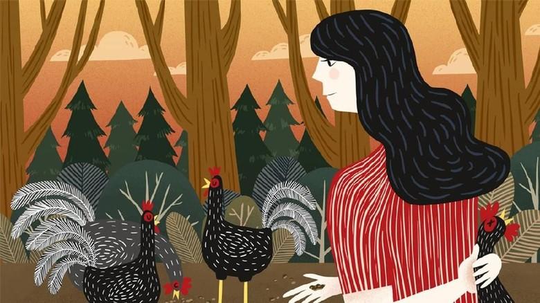 Gadis yang Gemar Membantai Ayam Jantan