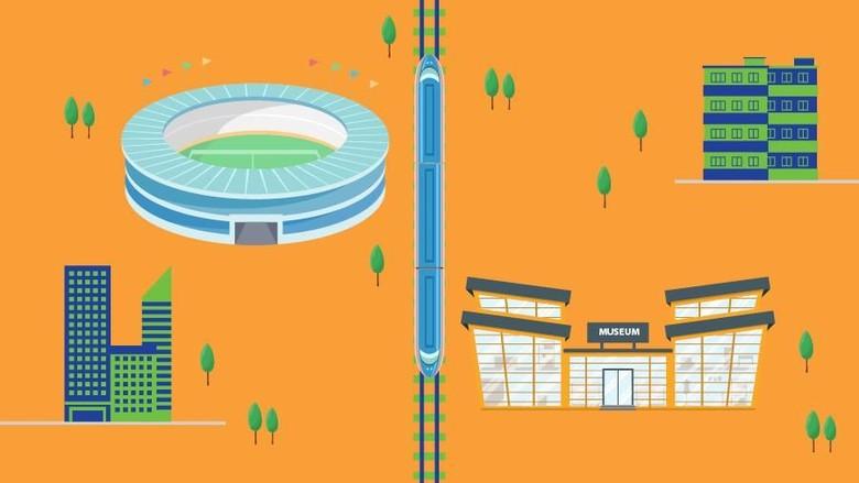 Peta Wisata Sepanjang Jalur MRT Jakarta (Luthfy Syahban/detikcom)