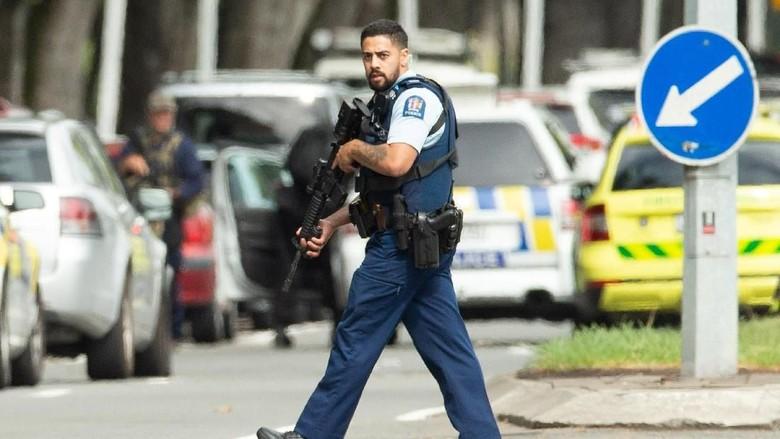 Keamanan di Selandia Baru ditingkatkan pasca penembakan di 2 masjid (REUTERS/SNPA/Martin Hunter)
