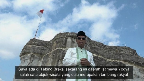 Romahurmuziy saat berada di Tebing Breksi Yogyakarta (romahurmuziy/Instagram)