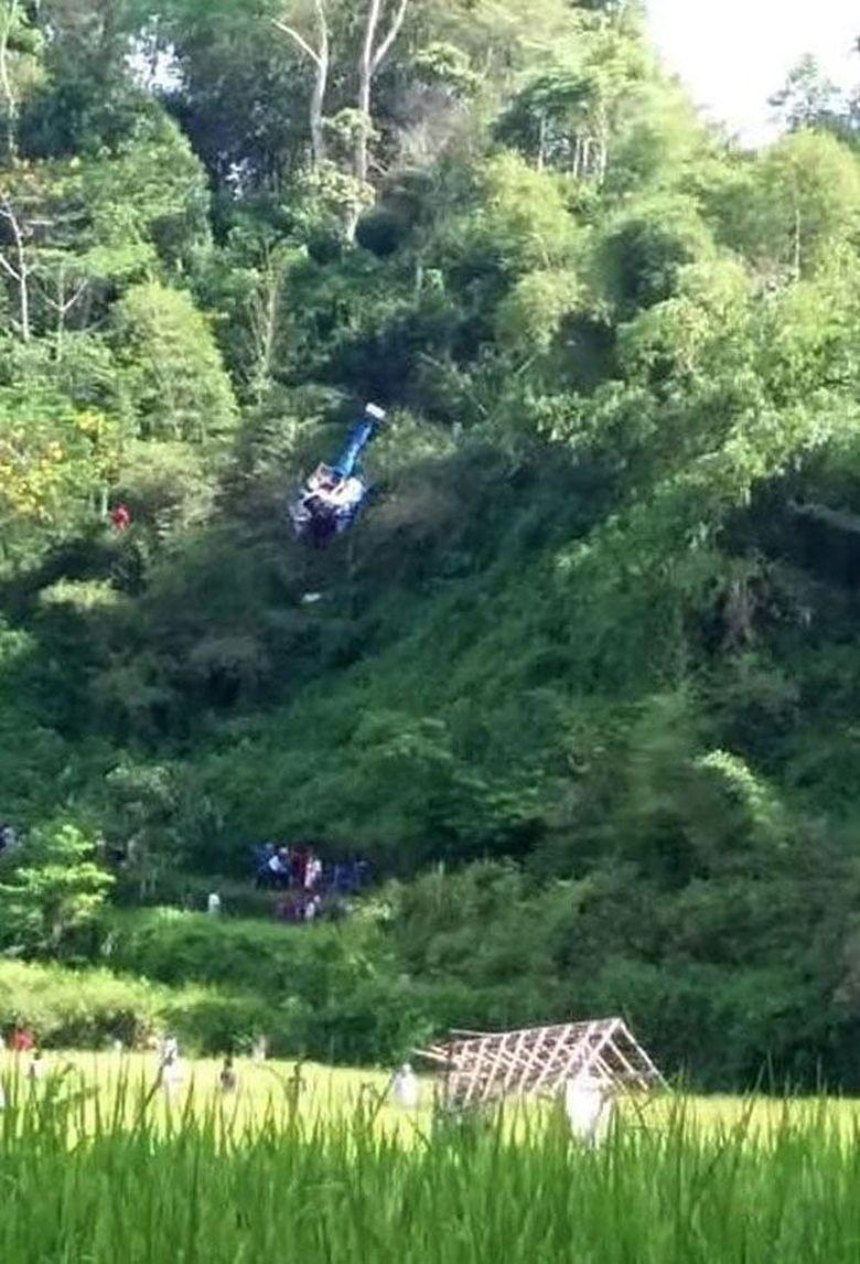 Fakta-fakta Helikopter Jatuh di Tasikmalaya