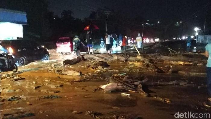 Penampakan Sentani yang dilanda banjir bandang. Foto: Dok. BNPB