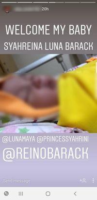 Wow! Bayi Ini Dinamai Syahreina Luna Barack